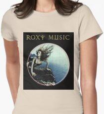 Roxy Music Siren Program Art Womens Fitted T-Shirt