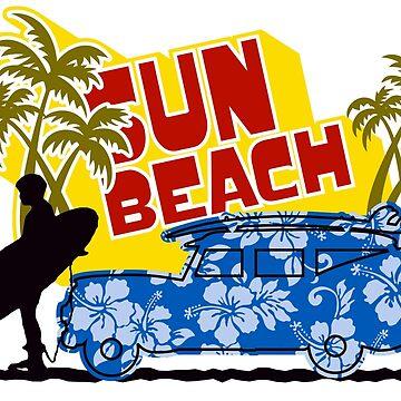 Sun Beach Vibes by Carmentrotta