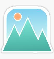 Minimalist Mountains Sticker