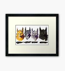 No Evil - Warrior Cats Power of Three Illustration Framed Print