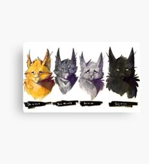 No Evil - Warrior Cats Power of Three Illustration Canvas Print