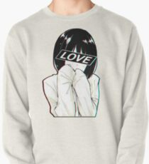 LIEBE traurig japanische Ästhetik Sweatshirt