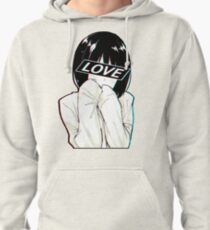 LOVE Sad Japanese Aesthetic  Pullover Hoodie