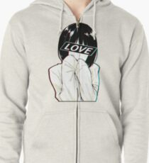 LOVE Sad Japanese Aesthetic  Zipped Hoodie