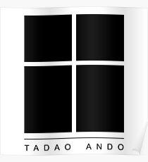 Tadao Ando Logo Poster