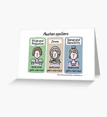 Austen spoilers Greeting Card