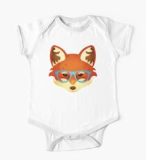 Hipster Fox One Piece - Short Sleeve