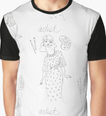 Women are Artists - black and white Graphic T-Shirt