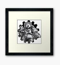 Power armour - black and white Framed Print