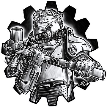 Power armour - black and white by Bloodywings