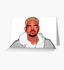 Chris Brown Cartoon Greeting Card