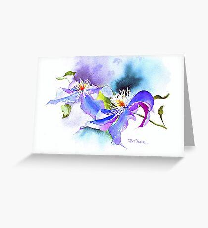 Spring Curves (Clematis) Greeting Card