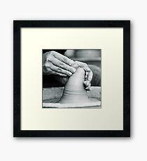 hands of worker Framed Print