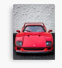 The Ferrari F40 - Grandfather of the Supercars Canvas Print