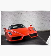 Extremely Rare Rosso Dino Ferrari Enzo Poster