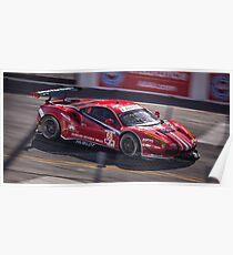 Ferrari 458 GT3 Race Car @ Long Beach Grand Prix Poster