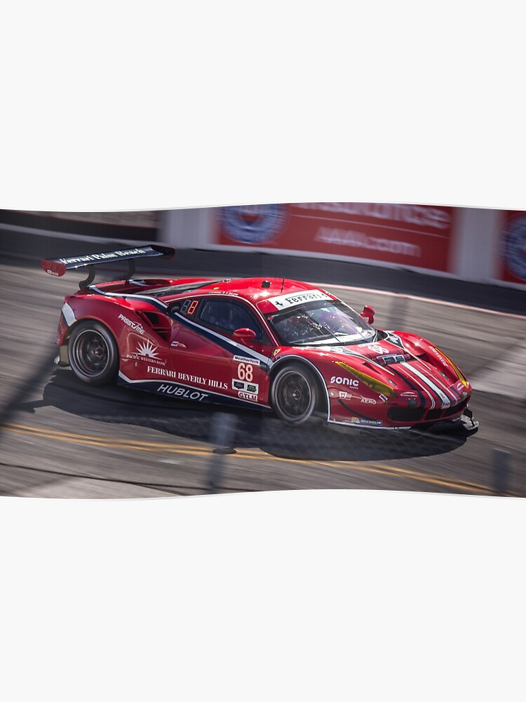 Ferrari 458 Gt3 Race Car Long Beach Grand Prix Poster