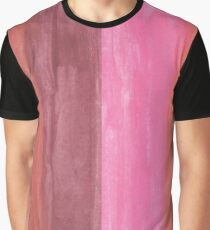Peachy Abstract Stripes Graphic T-Shirt
