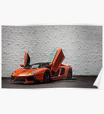 Lamborghini Doors Up! Vorsteiner Edition Aventador  Poster