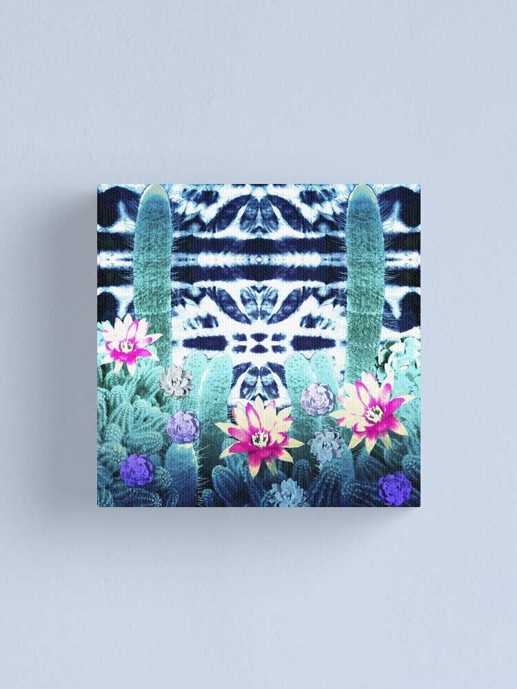 Alternate view of Boho Garden Cacti Canvas Print