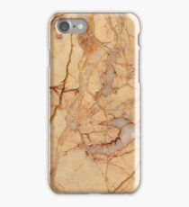 Beige Marble with big brown Artery iPhone Case/Skin