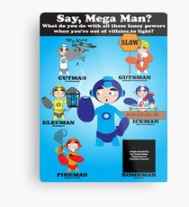 Mega Man Day Job Metal Print
