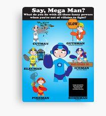 Mega Man Day Job Canvas Print