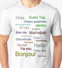 Hello (from around the world) Unisex T-Shirt