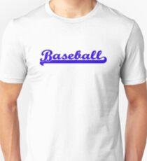 Baseball Royal Blue Typography Unisex T-Shirt