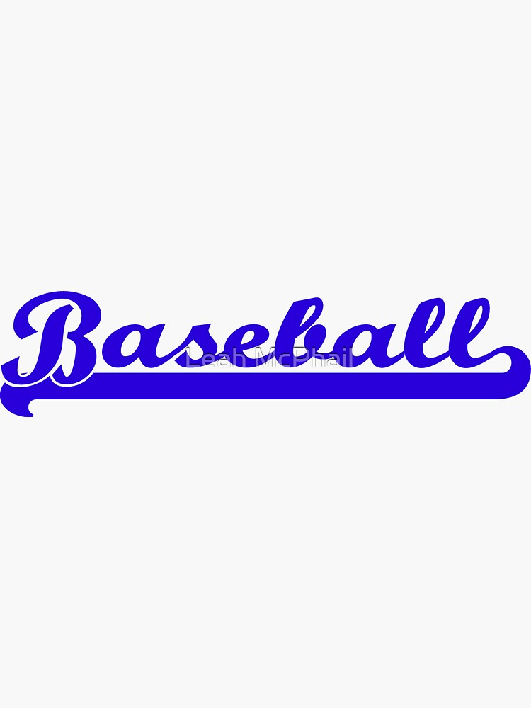 Baseball Royal Blue Typography by LeahMcPhail