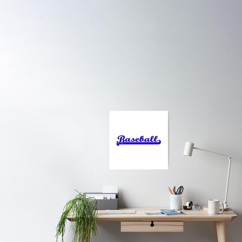 Baseball Royal Blue Typography Poster
