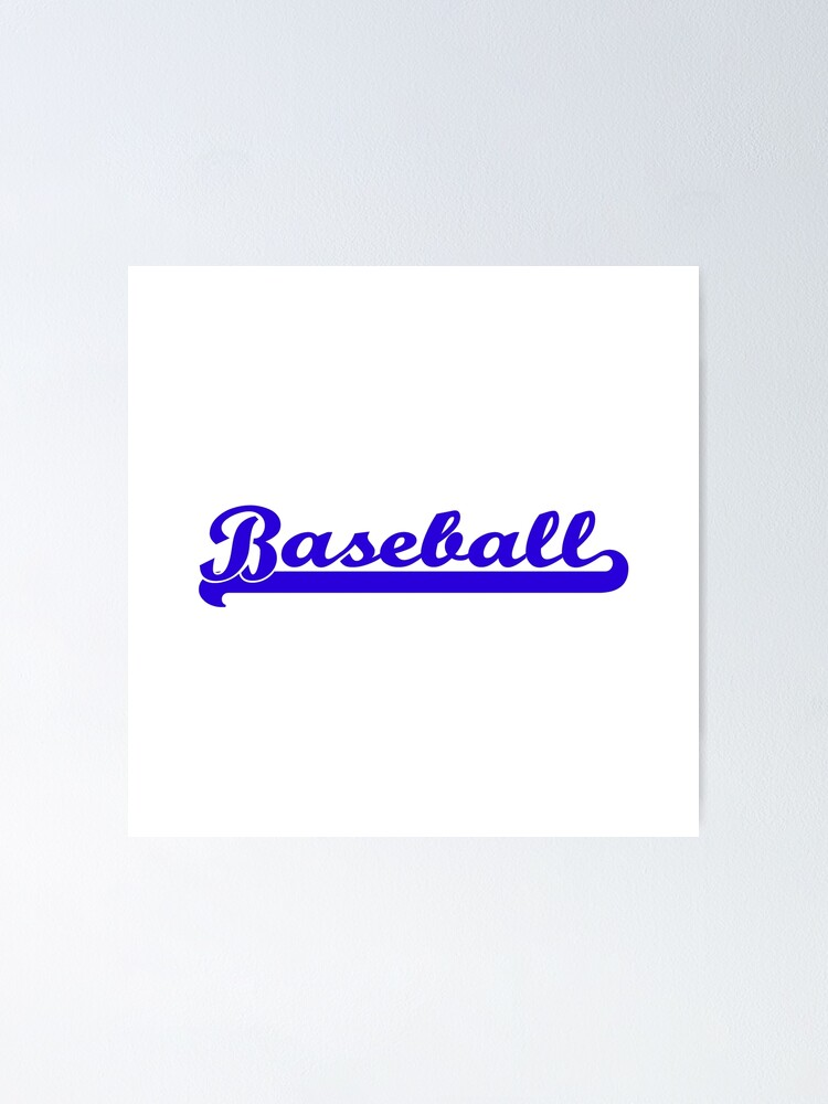 Alternate view of Baseball Royal Blue Typography Poster