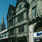 Street with C17 Buildings Caen 19840819 0005 by Fred Mitchell