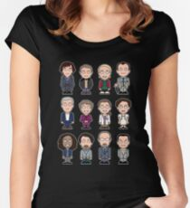 Sherlock and Friends mini people (shirt) Women's Fitted Scoop T-Shirt
