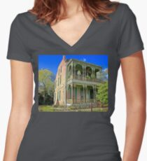 Balcony House Women's Fitted V-Neck T-Shirt