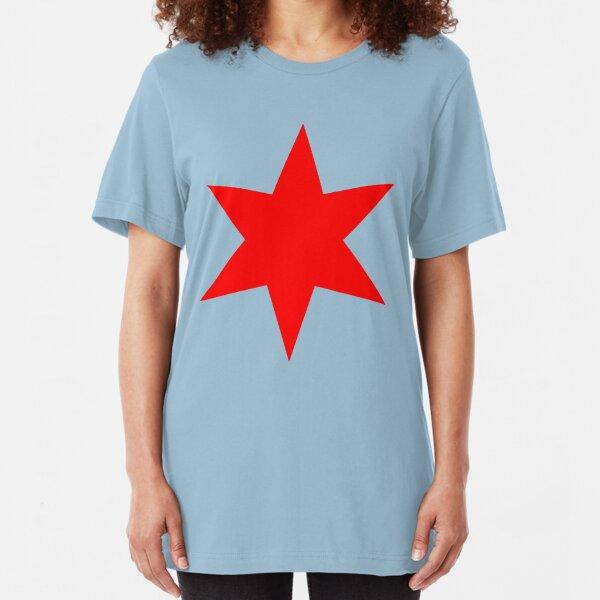 Chicago Flag Single Star Slim Fit T-Shirt