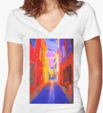 The Walkabouts - Twilight in France Women's Fitted V-Neck T-Shirt