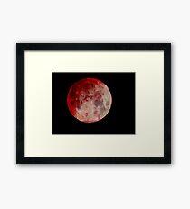 Blood Moon (Edited) Framed Print