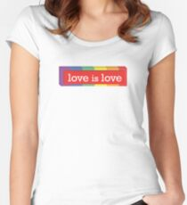 Love is Love - Box Design #PRIDE Women's Fitted Scoop T-Shirt