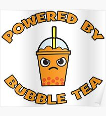 Powered By Bubble Tea - Orange Poster
