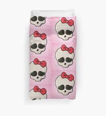 Cute Skull with Red Bow Duvet Cover