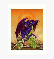 Grape Jelly Dragon Art Print