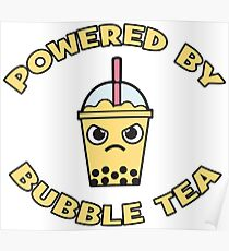 Powered By Bubble Tea - Mango Poster