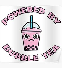 Powered By Bubble Tea - Pink Lemonade Poster