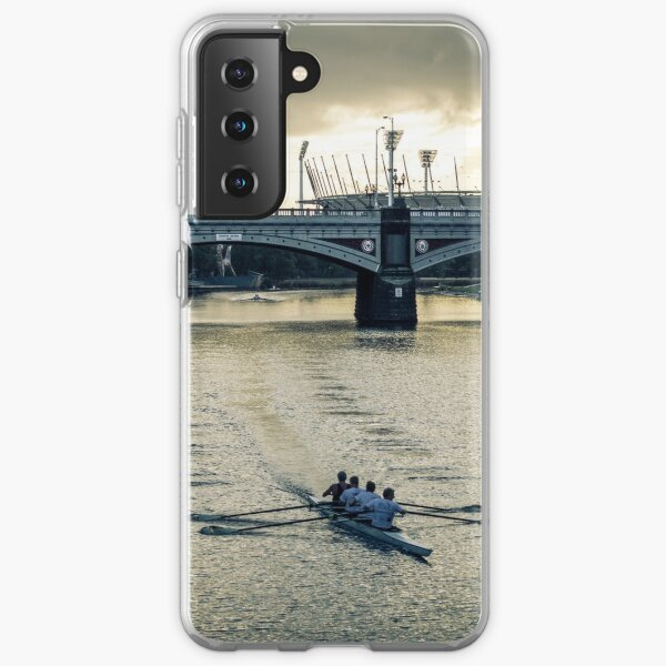 Early Morning Rowers on the Yarra Samsung Galaxy Soft Case