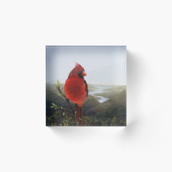 Cardinal in the Valley Acrylic Block