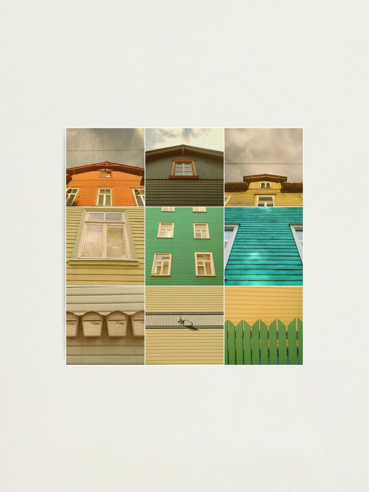 Alternate view of Wooden House Collage Photographic Print
