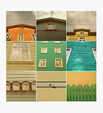 Wooden House Collage Photographic Print