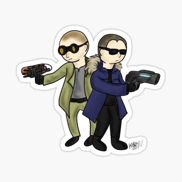 Little Heatwave & Captain Cold Sticker
