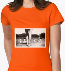 A Day at the Pool Womens Fitted T-Shirt
